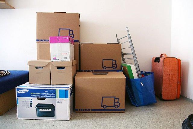Отправить домашние вещи в другой город