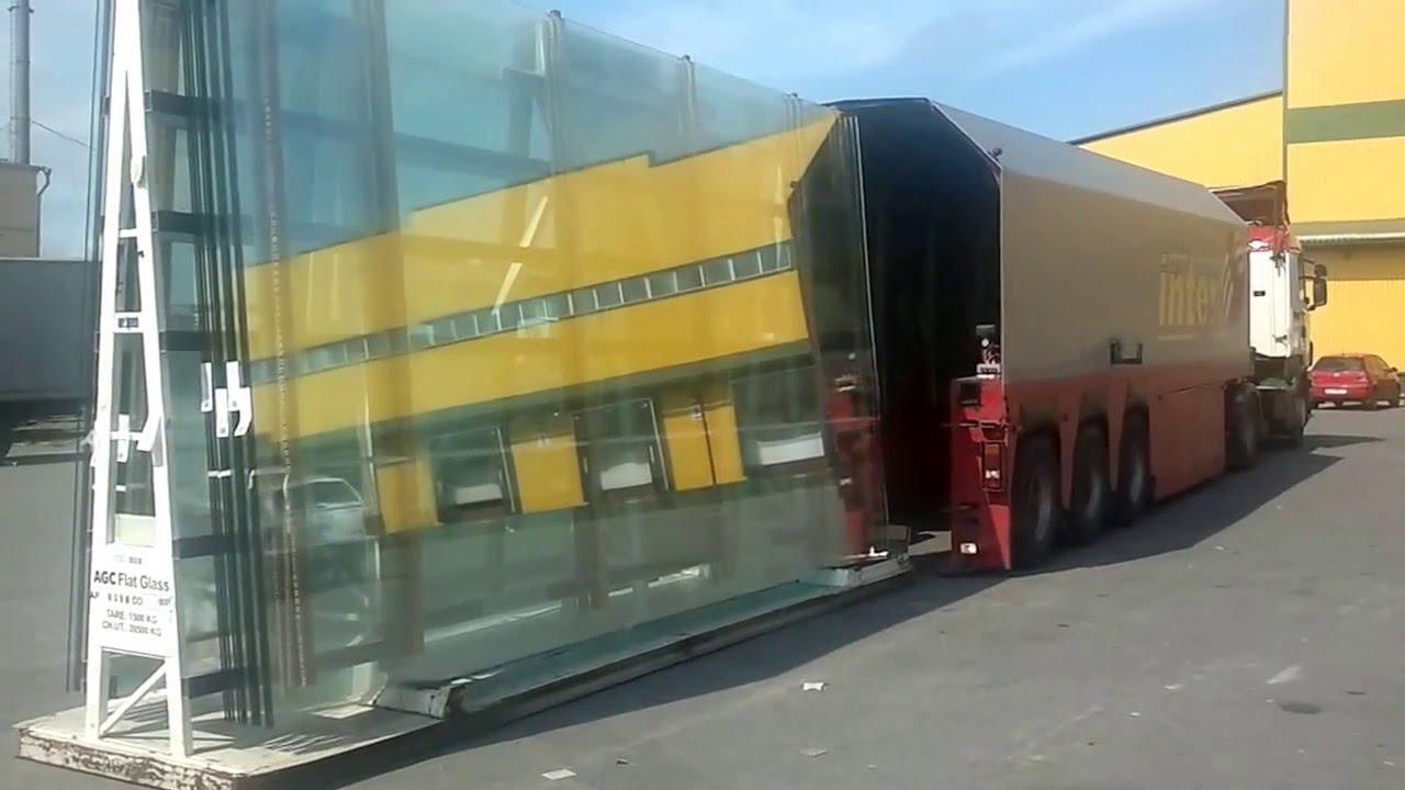 перевозка больших стекл для витрин магазинов