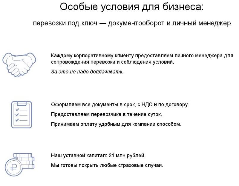 грузоперевозки по России для бизнеса
