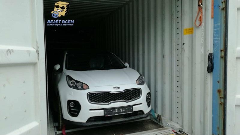 контейнерная перевозка легкового автомобиля