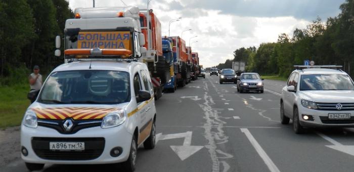 соблюдение правил по перевозке негабарита