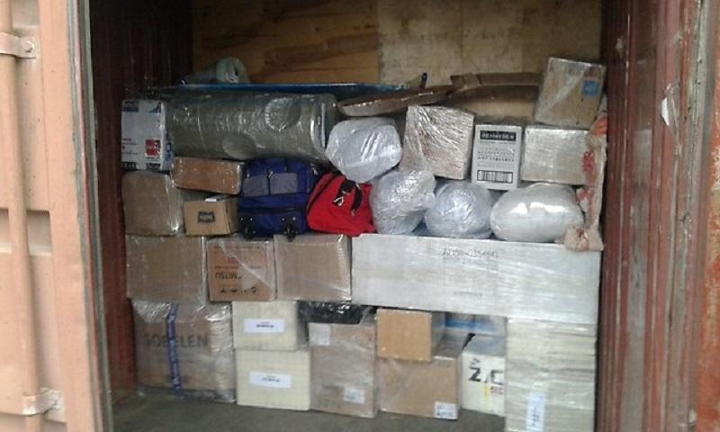 правильная погрузка вещей в контейнер