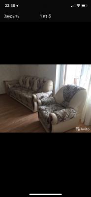 Доставка личныx вещей : Диван 3-местный +кресло из Москвы в Люберцы