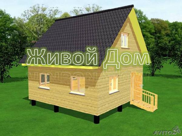 Заказ отдельной газели для доставки вещей : Сруб дома 6х6 из профилированного бруса из Санкт-Петербурга в Садоводческое товарищество N3