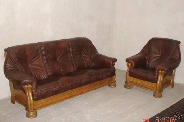 Транспортировка личныx вещей : Диван и кресло.Кожа.Дуб.Голландия из Калининграда в Басиновку