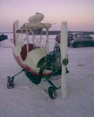 Перевозка фюзеляжа небольшого самолета из Стебаево в Красноярск