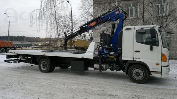 Перевозка тралом эвакуатора с кму hyundai hd-120 из Нижний Новгород в Челябинск