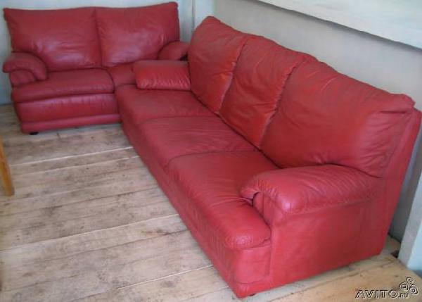 Заказать отдельную газель для перевозки личныx вещей : Гарнитур диван кожаный 3х-мест из Санкт-Петербурга в Пензу