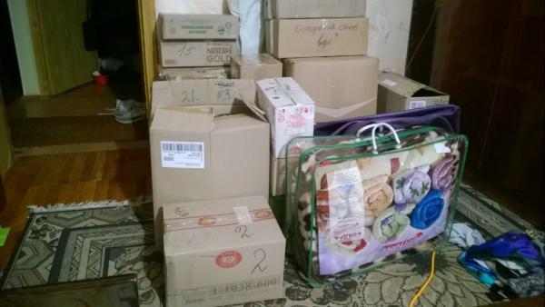 Заказать авто для отправки мебели : Средние коробки из Украина, Первомайского в Россия, Падиково