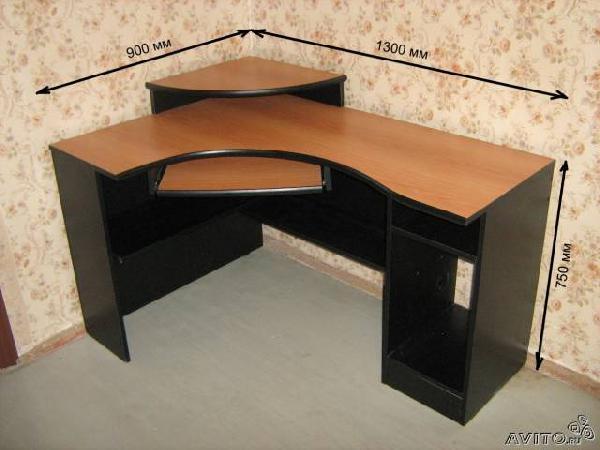Заказать грузовую газель для перевозки мебели : Стол компьютерный угловой из Санкт-Петербурга в Баязитово
