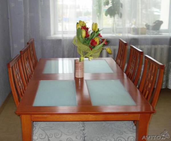 Доставка стола раздвижного и 6 стульев в квартиру из Ростов-на-Дону в Вавилово