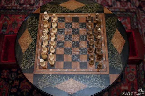 Заказ авто для отправки личныx вещей : Стол шахматный с фигурами из Орла в Краснодар