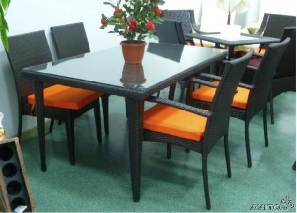 Доставка комплект мебели ротанг стол + из Сочи в Тюмень