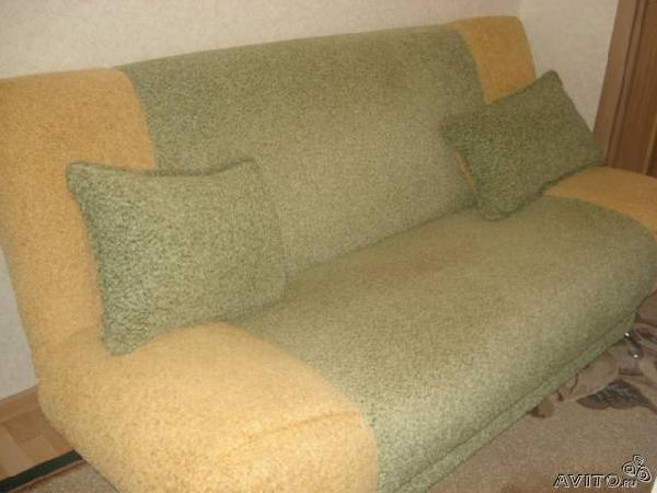 Доставка дивана цвет зеленый/желтый из Октября в Рыбинск