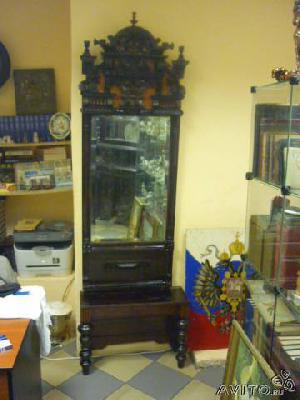 Заказ авто для транспортировки личныx вещей : Зеркало с тумбой 19 век из Старых Карамалы в Москву