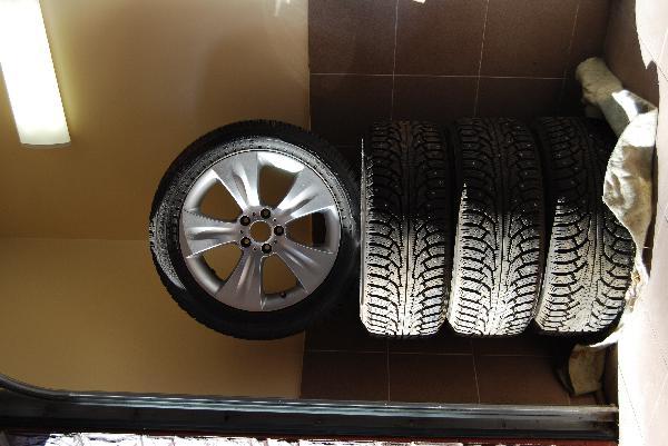 Отвезти 4 автомобильных шины с дисками в сборе r19 из Светлогорск в Новосибирск