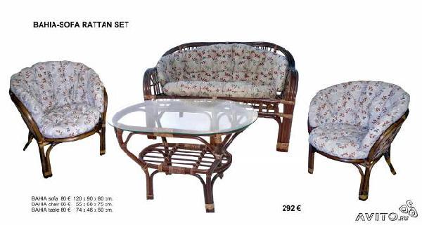 Транспортировка личныx вещей : Плетеная ротанговая мебель из Санкт-Петербурга в Орла