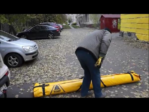 Транспортировка коврика длины 2500мм  диаметра 30 см веса 31 кг из Россия, Санкт-Петербург в Финляндия, Тиккурила