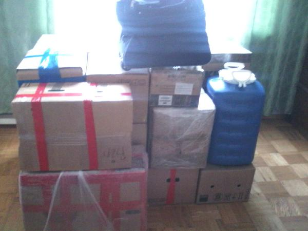 Доставка транспортной компанией коробок, личные вещей из Москва в Богословка