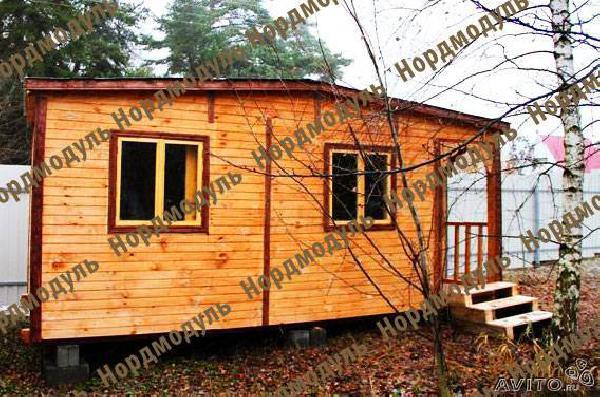 Доставить Бытовка дачная 6х2,30 крыльцо из Мурзагулово в Саратовского района