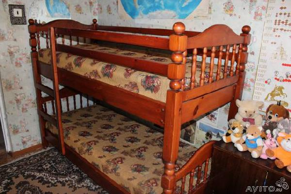 Транспортировать Двухъярусная кровать из Воротынска в Нурлино