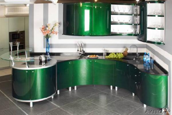 Доставить кухонный гарнитур с радиусными из Нижний Новгород в Полазна