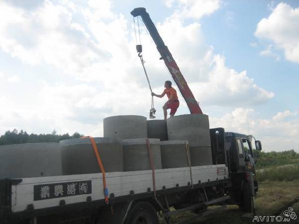 Заказ отдельной машины для доставки вещей : Кольца колодезные, жби из Санкт-Петербурга в Мельниково приозерского Района
