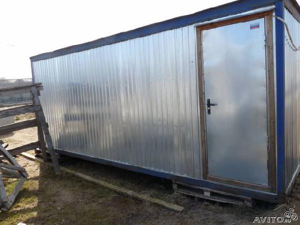 Перевезти Бытовка металлическая из Санкт-Петербурга в Ло тосненский р-н конечки