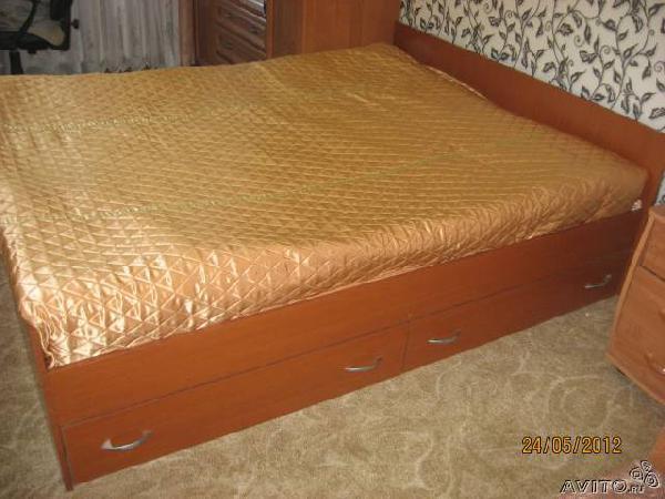 Перевозка личныx вещей : Продаётся двуспальная кровать из Алексеевского в Сергиево Посадский район