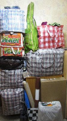 Стоимость автоперевозки 12 сумка среднего размера с личными вещами попутно из Москва в Санкт-Петербург