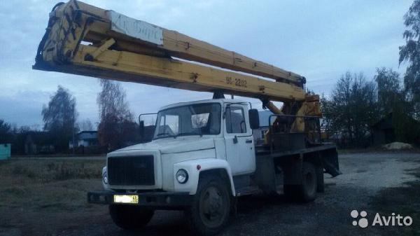 Перевозка авто сеткой газ 3307 автовышка / 2004 г / 1 шт из Липецк в Мурманск