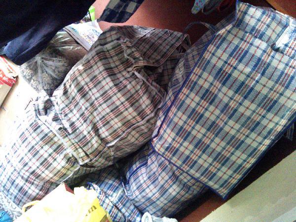 Недорогая перевозка личных вещей, 4 клетчатых сумок размером 83*41*58сма из Керчь в Москва