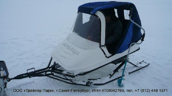 Заказ грузотакси для перевозки стеклопластиковых прицепа к снегоходу попутно из Петрозаводск в Сортавала