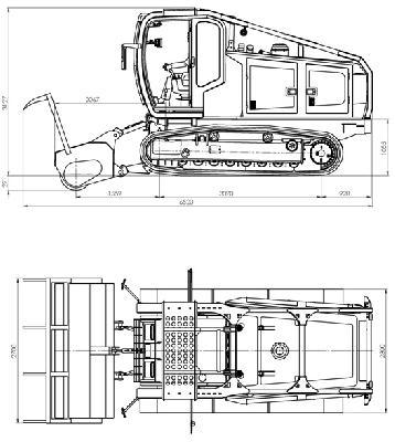 Стоимость транспортирвоки самоходной гусеничной машиной (мульчер) тм-250 из Красноярск в Олекминск