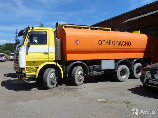 Железнодорожная транспортировка бензовоза Scania из Калининград в Новосибирск