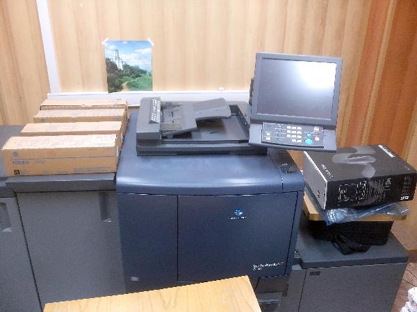 Доставка копировального аппарата konica minolta bizhub press на газели по Москве
