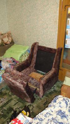 Перевозка дивана 2-местного, кресла среднего, журнального стола, обеденного стола из Москва в Крутое