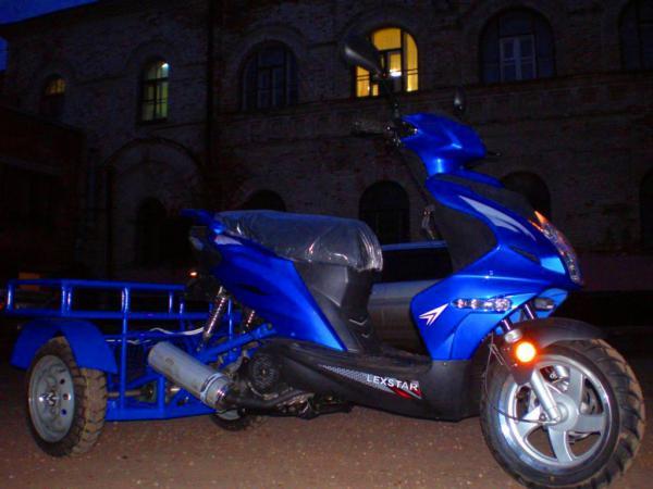 Доставка трёхколёсного скутера С багажником на газели из Воскресенск в Дмитров