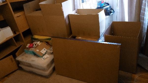 Заказ газели для картонных коробок + разобранной мебели из Москва в Самара