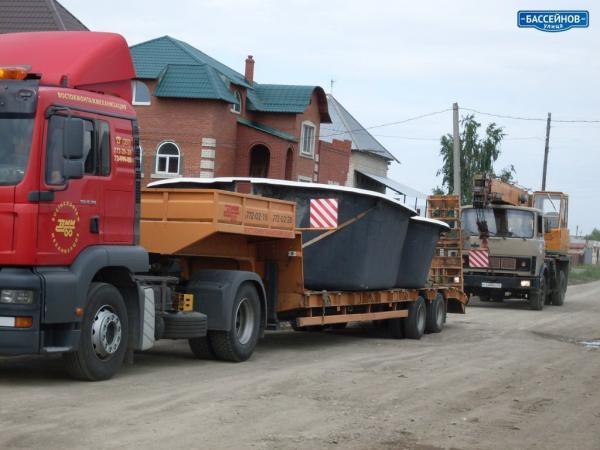 Перевезти на газели пластиковые бассейны из Ступино в Ростов-на-Дону