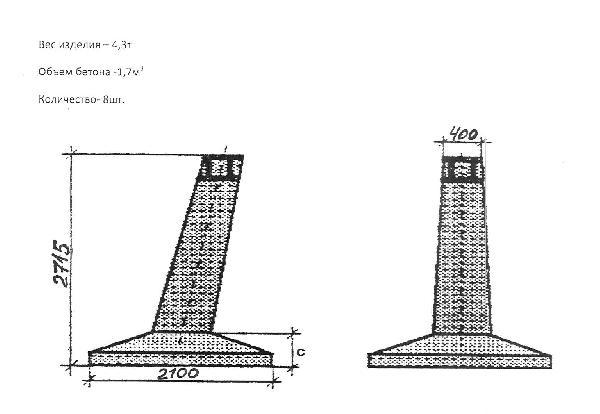 Доставка фундаменты железобетонные (опоры лэп) из Калуги в Липецк