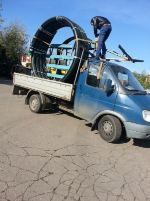 Заказ газели тент для перевозки труб для теплотрасс из Сосново в Москва