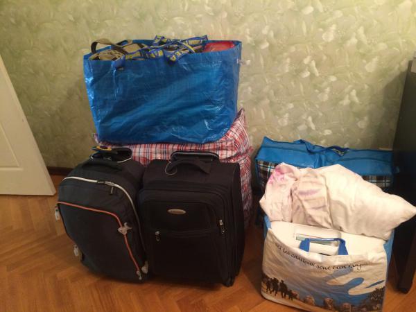 Перевезти сумки на дачу из Москва в Самара