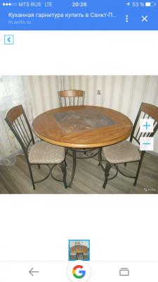 Отвезти круглый стол, кухонные стулья на дачу по Санкт-Петербургу
