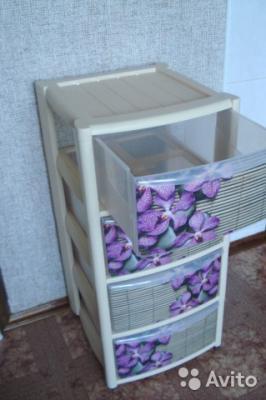 Доставка пластикового комода (4 пластм выдвижа ящика) в квартиру из Краснодар в Сочи
