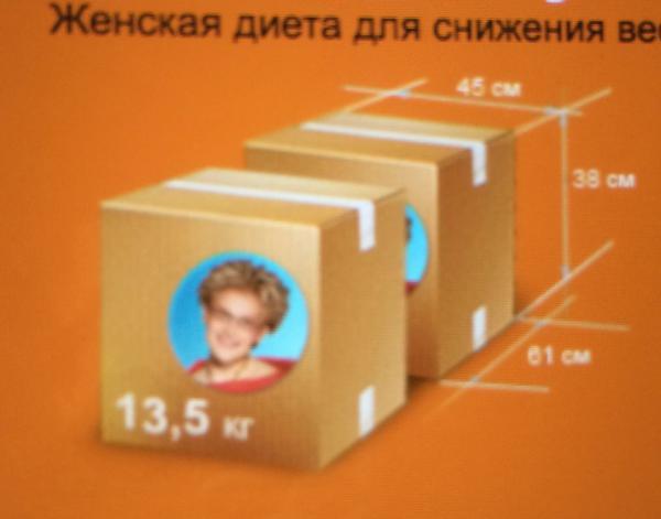 Доставка диетических наборов из Москва в Казань