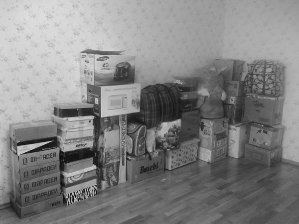 Перевозка автомобильного колеса, велосипеда, Горки, стола-книжки, коробок лежа из Санкт-Петербург в Северодвинск