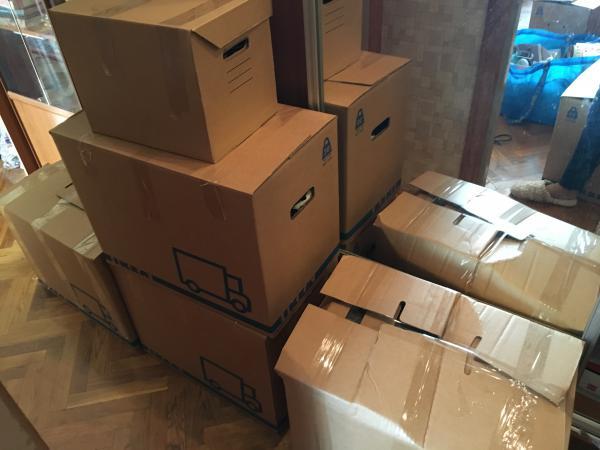Отвезти средние коробки на дачу по Москве
