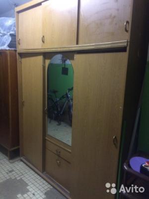 Перевозка шкафа трехдверного С зеркалом лежа по Чехову