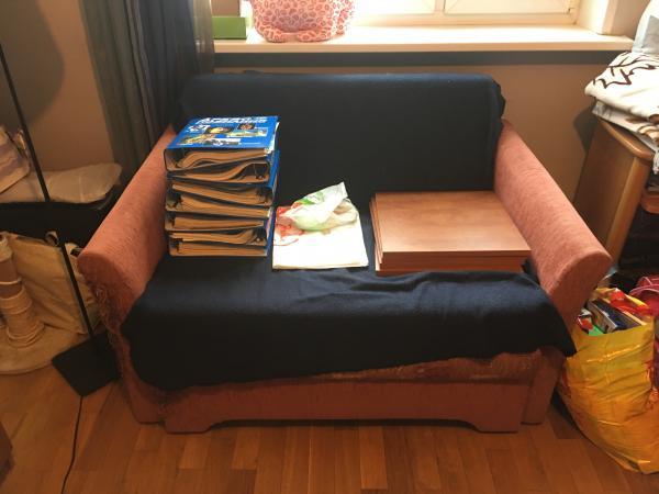 Газель перевезти мебельная стенка И маленький диван по Москве